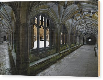 Lacock Abbey Wood Print