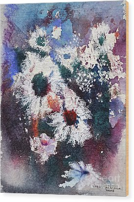 Wood Print featuring the painting Lacy Petals by Joan Hartenstein