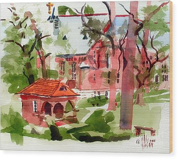 Lacy Spring Greens At Ursuline Academy Wood Print by Kip DeVore