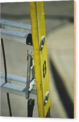 Ladder No 8 Wood Print by Christi Kraft