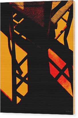 Ladderback Flamenco Wood Print