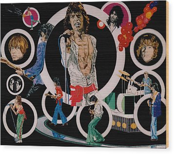 Ladies And Gentlemen -the Rolling Stones Wood Print by Sean Connolly