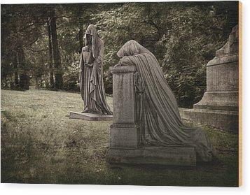 Ladies Of Sorrow Wood Print by Tom Mc Nemar