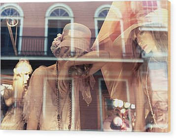 Wood Print featuring the photograph Ladies Of The French Quarter by Nadalyn Larsen
