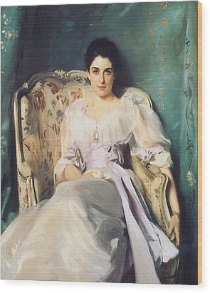 Lady Agnew Of Lochnaw Wood Print by John Singer Sargent
