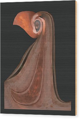 Lady Beaker Wood Print by Wendy J St Christopher