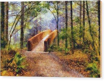 Lady Bird Johnson Grove Bridge Wood Print by Kaylee Mason