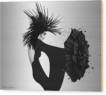 Lady D 2 Wood Print by Mark Ashkenazi