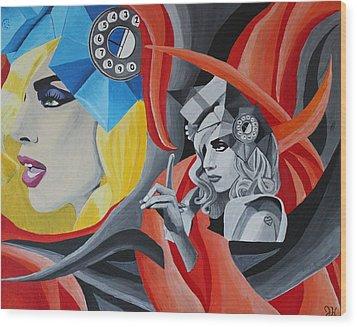 Lady Gaga Wood Print by Jennifer Hayes