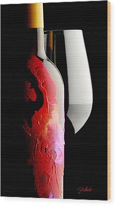 Lady In Red Wood Print by Jon Neidert