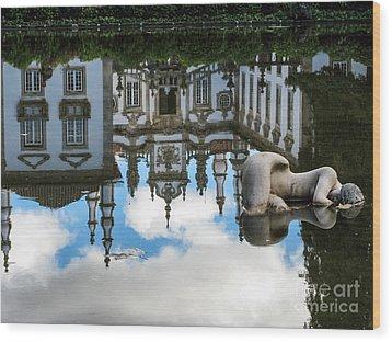 Lady In The Pond Wood Print by Arlene Carmel