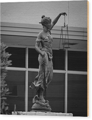 Wood Print featuring the photograph Lady Justice by Amber Kresge