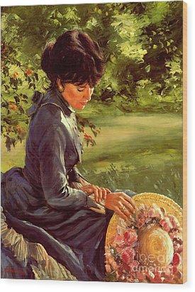 Lady Katherine Wood Print