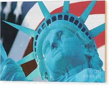 Wood Print featuring the photograph Lady Liberty  by Jerry Fornarotto