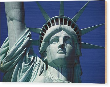 Lady Liberty Wood Print by Jon Neidert