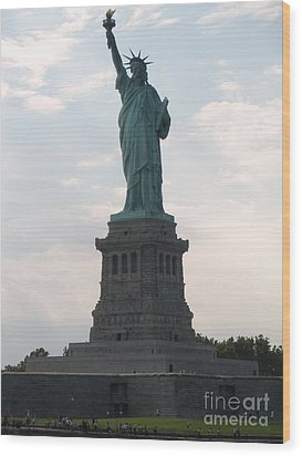 Wood Print featuring the photograph Lady Liberty by Luther Fine Art