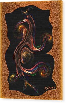 Lady Life Wood Print