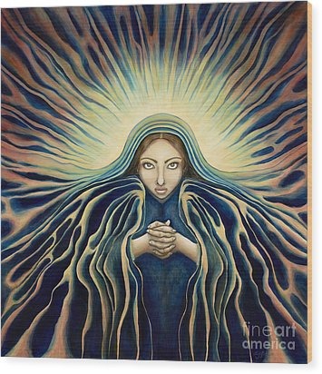 Lady Of Light Wood Print
