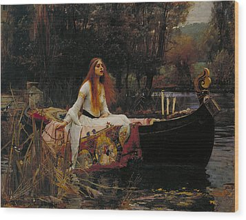 Lady Of Shalott Wood Print by John William Waterhouse