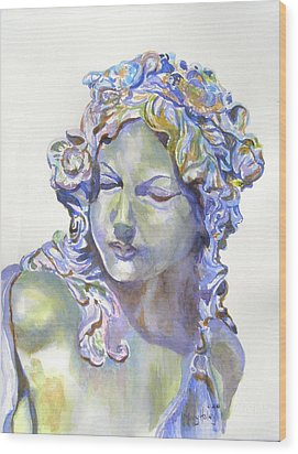 Lady Of Stone Wood Print by Mary Haley-Rocks
