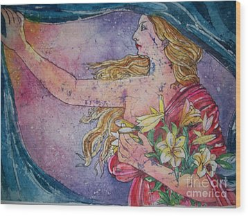 Lady Of The Morning Wood Print