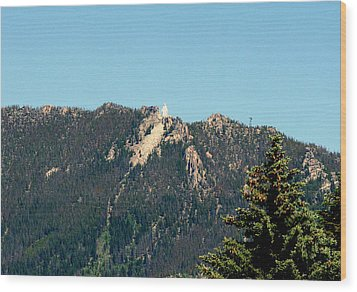 Lady Of The Rockies Butte Montana Wood Print by Larry Stolle