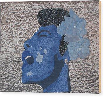 Lady Sings Wood Print by Aisha Lumumba