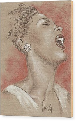 Lady Sings The Blues Wood Print