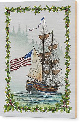 Lady Washington And Holly Wood Print by James Williamson