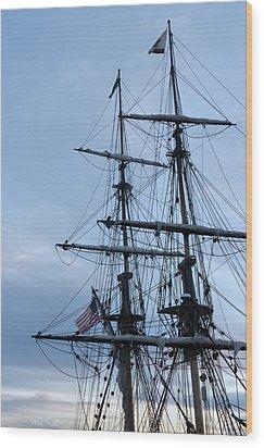 Lady Washington's Masts Wood Print by Heidi Smith