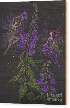 Ladybells Wood Print by Dawn Fairies