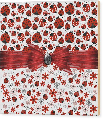 Ladybug Magic Wood Print by Debra  Miller