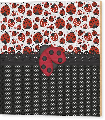 Ladybug Mood  Wood Print by Debra  Miller
