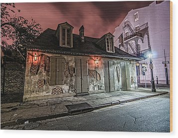 Lafitte's Blacksmith Shop Wood Print by Andy Crawford