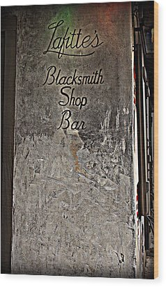 Lafitte's Blacksmith Shop Bar Wood Print by Beth Vincent