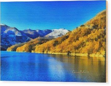Lago Del Brugneto - Brugneto Lake Wood Print