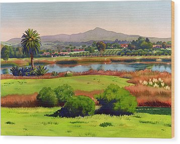Lago Lindo Rancho Santa Fe Wood Print by Mary Helmreich
