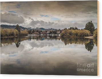 Lagoon At Cove East Wood Print by Mitch Shindelbower