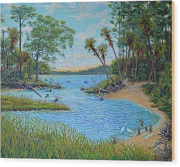 Lagoon At Hunting Island 2 Wood Print