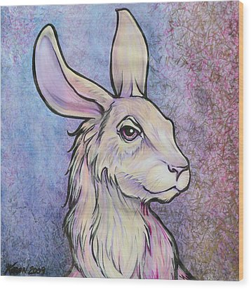 Lagos The Noble Hare Wood Print by Karon Melillo DeVega