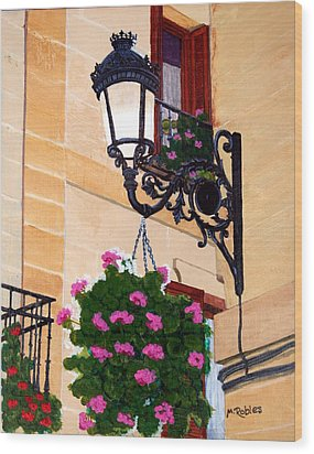 Laguardia Street Lamp  Wood Print by Mike Robles