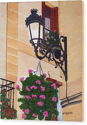 Laguardia Street Lamp  Wood Print