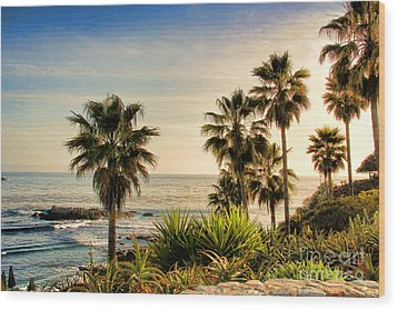 Laguna Beach Wood Print by Mariola Bitner