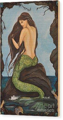 Laguna Beach Mermaid Marina Wood Print by Valarie Pacheco