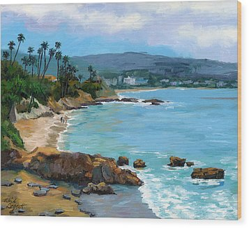 Laguna Beach Winter Wood Print by Alice Leggett