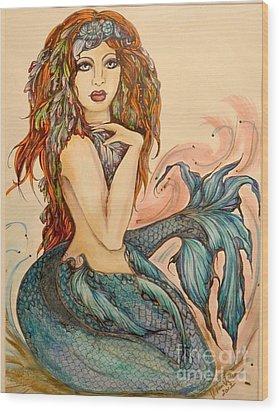 Laguna Blue Wood Print by Valarie Pacheco