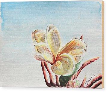 Laguna Flower Wood Print by Katharina Filus