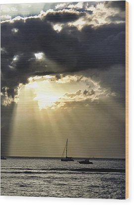 Lahaina Sunset 2 Wood Print by Dawn Eshelman