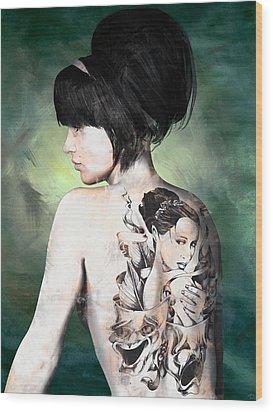 Laid Bare Wood Print by Maynard Ellis