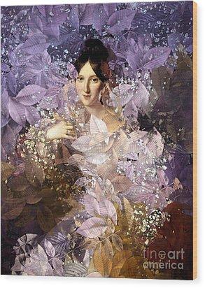 Laila - Des Femmes Et Des Fleurs Wood Print by Aimelle